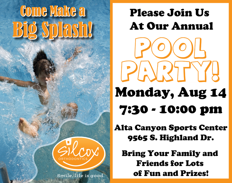 Our annual pool party is coming up!!